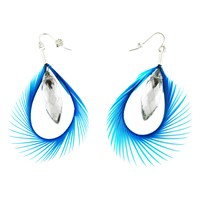 Ayaka Nishi New York Feather Earrings Blue