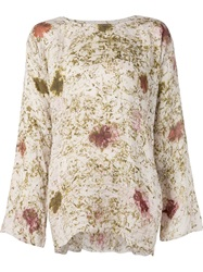 Dosa 'Tunisian' Printed Blouse Nude And Neutrals