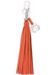 Gucci 'Interlocking G' Tassel Key Ring Yellow And Orange