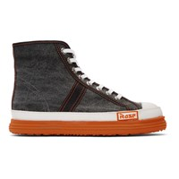 Martine Rose Black Denim Basketball Shoes