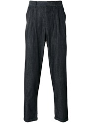 Emporio Armani Denim Tapered Trousers Blue