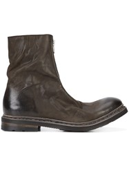 The Last Conspiracy 'Magne' Boots Men Leather Rubber 43 Grey