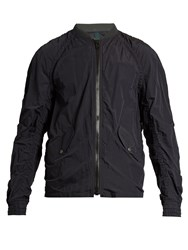 Kolor Ruched Lightweight Bomber Jacket Navy