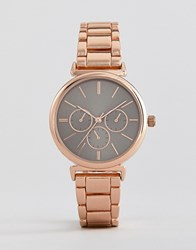 New Look Gold Watch Pink