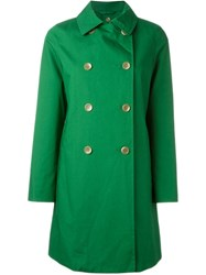 Mackintosh Double Breasted Coat Green