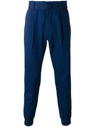 Juun.J Tapered Trousers Blue