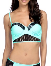 Kenneth Cole Reaction Beat Of The Street Cutout Bikini Top Black