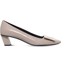 Roger Vivier Belle Patent Leather Court Shoes Taupe