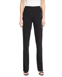 Ralph Lauren Alandra Side Zip Stretch Wool Pants Black