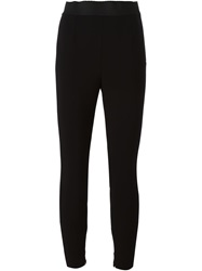 Dolce And Gabbana Elasticated Waistband Leggings Black