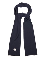 Moncler Ribbed Knit Wool Scarf