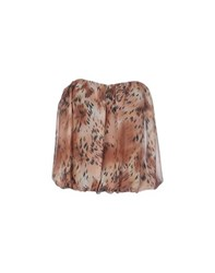 Guess Topwear Tube Tops Women Brown