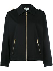 Kenzo Branded Harrington Jacket Black