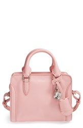 Alexander Mcqueen 'Mini Padlock' Calfskin Leather Duffel Bag Pink Rose