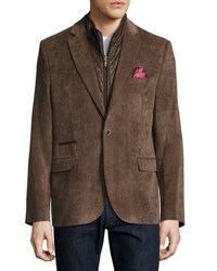 English Laundry Corduroy Quilted Combo Blazer Beige