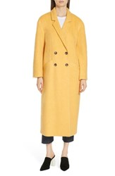 Cinq A Sept Maya Long Double Breasted Coat Sunflower