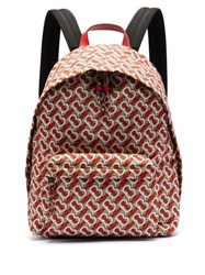 Burberry Tb Monogram Technical Twill Backpack Red Multi