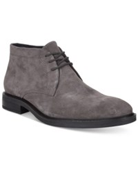 Alfani Men's Fulton Plain Toe Chukka Boots Only At Macy's Men's Shoes Grey