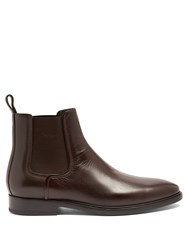 Lanvin Grained Leather Chelsea Boots Brown