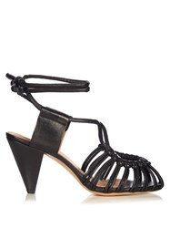 Isabel Marant Etoile Milly Leather Cage Sandals Black