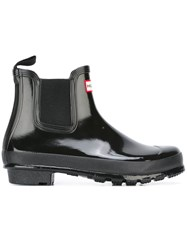 Hunter Glossy Chelsea Boots Black