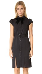 Alice Olivia Carie Puff Sleeve Shirtdress Black