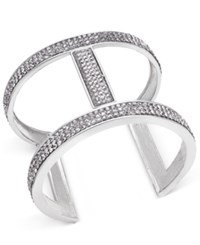 Inc International Concepts Pave Open Cuff Bracelet Only At Macy's Silver