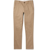 Sandro Tapered Cotton Twill Chinos Neutrals