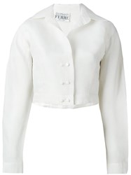 Gianfranco Ferre Vintage Crop Jacket White