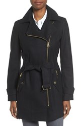 Michael Michael Kors Women's Belted Asymmetrical Wool Blend Coat