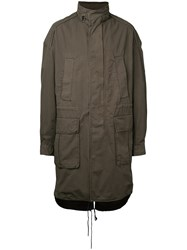 Juun.J High Neck Parka Green