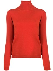 Lamberto Losani Roll Neck Jumper Red