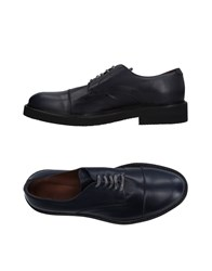Eleventy Lace Up Shoes Dark Blue