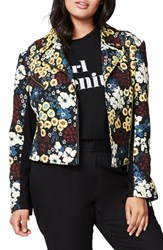 Rachel Roy Plus Size Women's Floral Moto Jacket