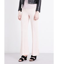 Sandro Flared High Rise Woven Trousers Pink
