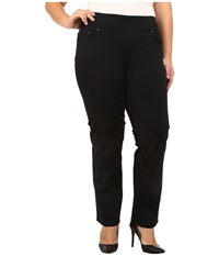 Jag Jeans Plus Size Peri Pull On Straight Jeans In Black Black Women's Clothing