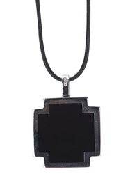 Gavello Cross Pendant Necklace Black