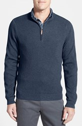 Men's Big And Tall Nordstrom Cotton And Cashmere Rib Knit Sweater
