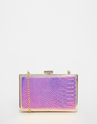 New Look Mermaid Box Clutch Multi