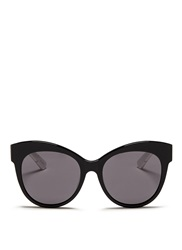 Blanc And Eclare 'Paris' Polka Dot Print Temple Acetate Sunglasses