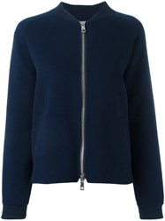 P.A.R.O.S.H. Zip Up Bomber Jacket Blue