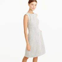 J.Crew Petite A Line Dress In Shimmer Tweed