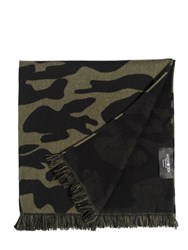 Hydrogen Military Camouflage Wool Scarf