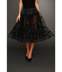 Unique Vintage Tea Length Petticoat Crinoline Slip Black Women's Skirt