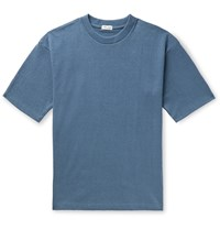 Camoshita Cotton Terry T Shirt Blue