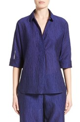 Armani Collezioni Women's Crinkle Cotton And Silk Blend Tunic
