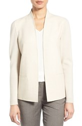 Nordstrom Women's Collection Woven Front Merino Sweater Jacket