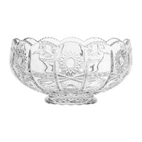 Bloomingville Art Deco Textured Glass Punch Bowl Clear