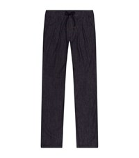 Brunello Cucinelli Tailored Drawstring Jeans Male Navy