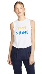 South Parade Sunshine Tank White